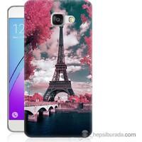 Bordo Samsung Galaxy A3 2016 İlkbahar Paris Baskılı Silikon Kapak Kılıf