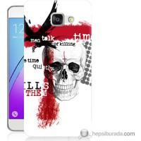 Bordo Samsung Galaxy A5 2016 Kuru Kafa Time Baskılı Silikon Kapak Kılıf