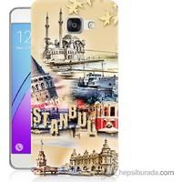 Bordo Samsung Galaxy A5 2016 İstanbul Efekt Baskılı Silikon Kapak Kılıf