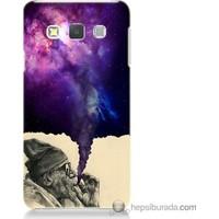 Bordo Samsung Galaxy A3 Hayal Gücü Baskılı Silikon Kapak Kılıf