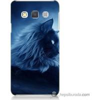 Bordo Samsung Galaxy A3 3D Kedicik Baskılı Silikon Kapak Kılıf