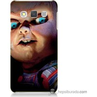 Bordo Samsung Galaxy A7 Chuky Baskılı Silikon Kapak Kılıf