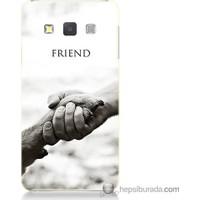 Bordo Samsung Galaxy A7 Hayat Yolu Baskılı Silikon Kapak Kılıf