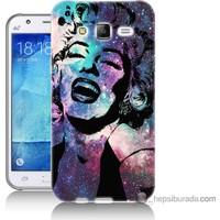 Bordo Samsung Galaxy J2 Marilyn Monroe Baskılı Silikon Kapak Kılıf