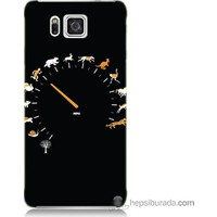 Bordo Samsung Galaxy Alpha G850 Hız Baskılı Silikon Kapak Kılıf
