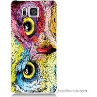 Bordo Samsung Galaxy Alpha G850 Tatlı Baykuş Baskılı Silikon Kapak Kılıf