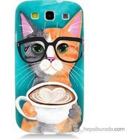 Bordo Samsung Galaxy S3 Kahve Keyfi Baskılı Silikon Kapak Kılıf
