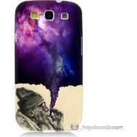 Bordo Samsung Galaxy S3 Hayal Gücü Baskılı Silikon Kapak Kılıf