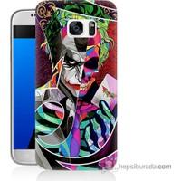 Bordo Samsung Galaxy S7 Renkli Joker Baskılı Silikon Kapak Kılıf