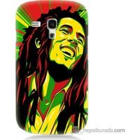 Bordo Samsung Galaxy S3 Mini Bob Marley Baskılı Silikon Kapak Kılıf