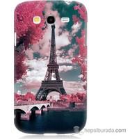 Bordo Samsung Galaxy Grand Neo İlkbahar Paris Baskılı Silikon Kapak Kılıf