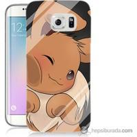 Bordo Samsung Galaxy S6 Edge Plus Pokemon Baskılı Silikon Kapak Kılıf