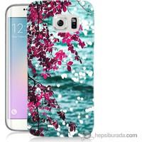 Bordo Samsung Galaxy S6 Edge Plus Manzara Baskılı Silikon Kapak Kılıf