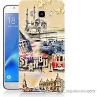 Bordo Samsung Galaxy J5 2016 İstanbul Efekt Baskılı Silikon Kapak Kılıf