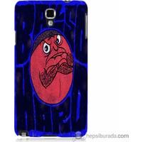 Bordo Samsung Galaxy Note 3 Neo Somurtkan Top Baskılı Silikon Kapak Kılıf