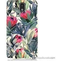 Bordo Samsung Galaxy Note 3 Tablo Resim Baskılı Silikon Kapak Kılıf