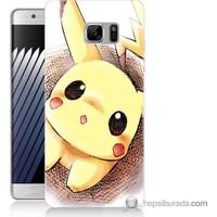 Bordo Samsung Galaxy Note 7 Pokemon Resim Baskılı Silikon Kapak Kılıf