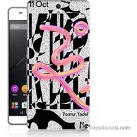 Bordo Sony Xperia C5 Tasarım Görsel Baskılı Silikon Kapak Kılıf