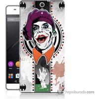 Bordo Sony Xperia C5 Joker Baskılı Silikon Kapak Kılıf