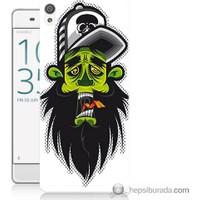 Bordo Sony Xperia Z5 Premium Yeşil Adam Baskılı Silikon Kapak Kılıf