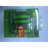 Gp Recyko 1000 Serisi Aaa Şarjlı İnce Kalem Pil 4+2'Li