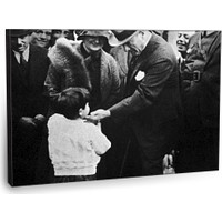 Fotografyabaskı Atatürk Ve Çocuk Tablosu 75 Cm X 50 Cm Kanvas Tablo Baskı