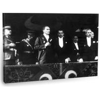 Fotografyabaskı Mustafa Kemal Atatürk Tablo 4 75 Cm X 50 Cm Kanvas Tablo Baskı