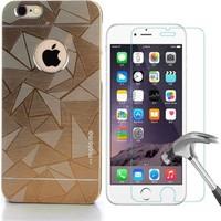 Kılıfshop Apple iPhone 6S Motomo Metal Prizma Kılıf Kırılmaz Ekran Koruyucu