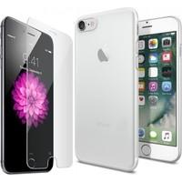 Kılıfshop Apple iPhone 7 Silikon Kılıf + Kırılmaz Cam Ekran Koruyucu