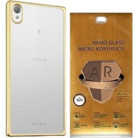 Kılıfshop Sony Xperia Xa Ultra Lazer Silikon Kılıf Nano Glass Ekran Koruyucu