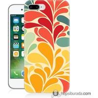 Teknomeg iPhone 7 Plus Kapak Kılıf Çiçekler Baskılı Silikon