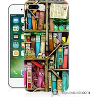 Teknomeg iPhone 7 Plus Kapak Kılıf Kitaplık Baskılı Silikon