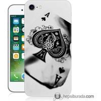 Teknomeg iPhone 7 Kapak Kılıf İskambil Baskılı Silikon