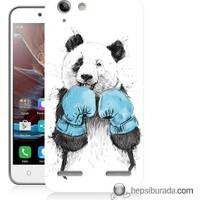 Teknomeg Lenovo K5 Kılıf Kapak Boksör Panda Baskılı Silikon