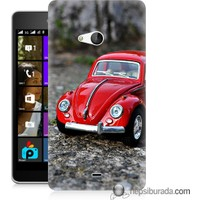 Teknomeg Microsoft Lumia 540 Kılıf Kapak Volkswagen Baskılı Silikon
