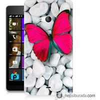 Teknomeg Microsoft Lumia 540 Kapak Kılıf Kelebek Baskılı Silikon