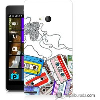Teknomeg Microsoft Lumia 540 Kapak Kılıf Kasetler Baskılı Silikon
