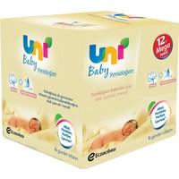 Uni Baby Yenidoğan Islak Mendil 12 Paket 40Lı