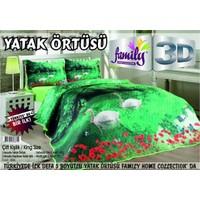 Family 3D Baskılı Çift Kişilik Yatak Örtüsü 006
