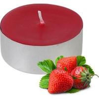 Tvshopmarket 50 Li Kokulu Kırmızı Tealight Mum