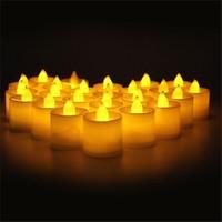 Tvshopmarket 24 Adet Tealight Sarı Isık Led Mum
