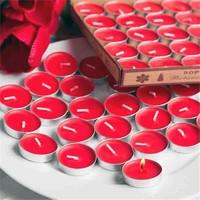 Tvshopmarket 100 Lü Kokulu Kırmızı Tealight Mum