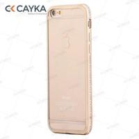 Cayka Iphone 6S Taşlı Altın Kılıf Cs-Ttpu-G-App-6S