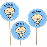 It'S Boy Baby Shower Konuşma Balonu Parti Çubukları 3 Adet