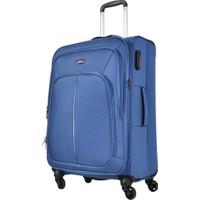 Pierre Cardin Kumaş Valiz Orta Boy Mavi 9900