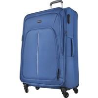 Pierre Cardin Kumaş Valiz Büyük Boy Mavi 9900