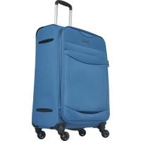 Pierre Cardin Kumaş Valiz Orta Boy Mavi 2300