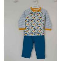Premom 1152 Arabalı 2li Bebek Pijama Takımı