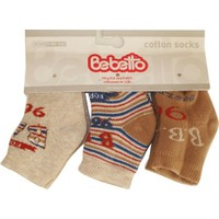 Bebetto S138 Bebe Havlu 3lü Çorap 0-3 Ay