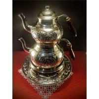 Sonay Bakırcılık Kesme İşlemeli Bakır Çaydanlık Ve Osmanlı Ocağı